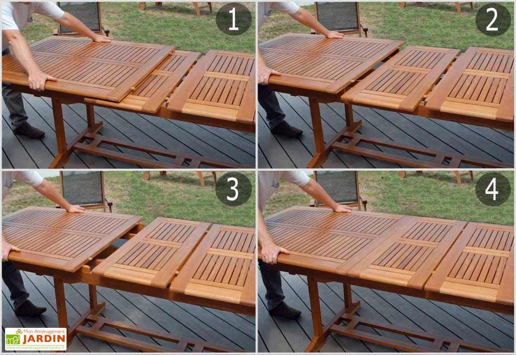 Table Rectangulaire Rives en Garuga (220/300x100x74)