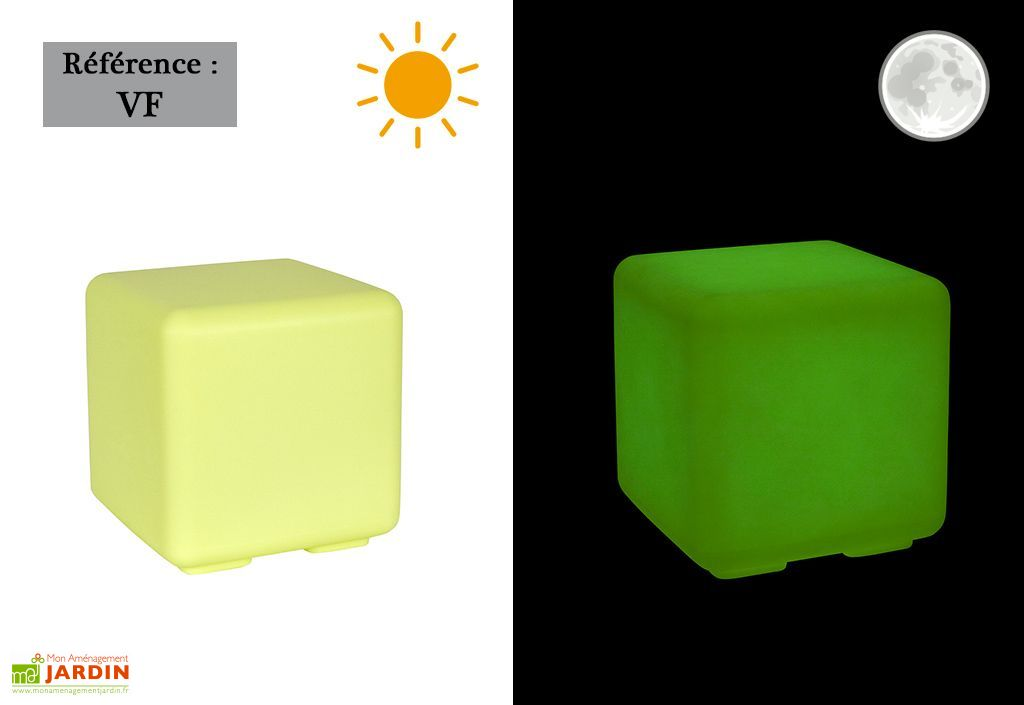 Cube De Jardin Lumineux Fluo Poly Thyl Ne Plusieurs