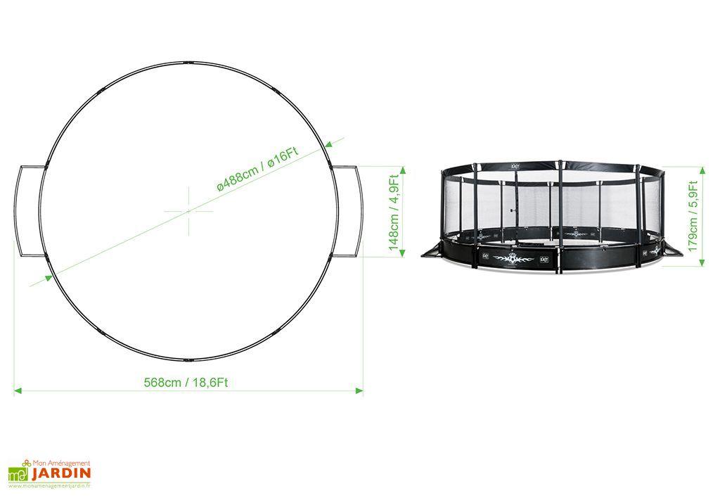Terrain de Panna + Filet Arena Round 488 cm