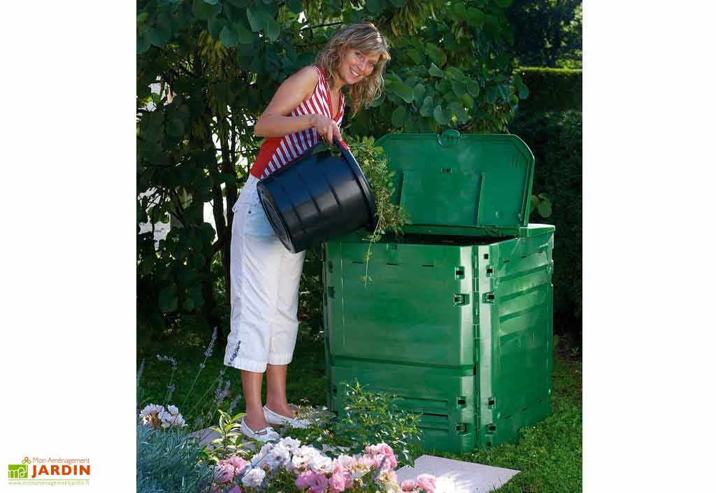 Bac Compost Garantia Thermo King 400 L Vert