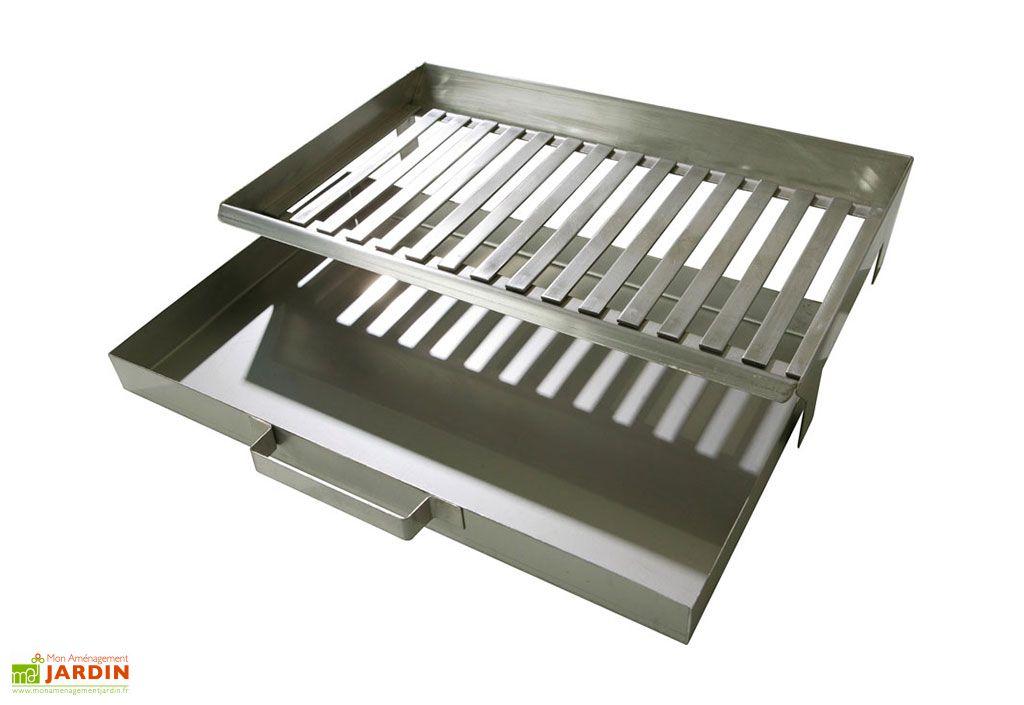 Tiroir à cendres en inox pour barbecue béton Buschbeck