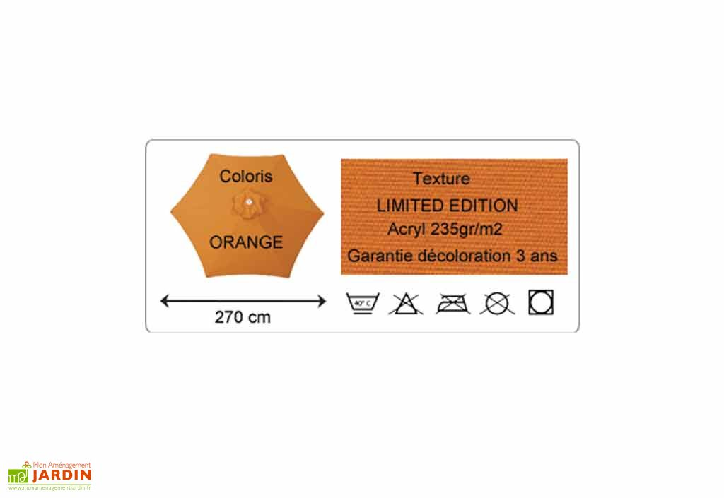 Toile Parasol 270 Hexagonal Limited (235 gr/m²)