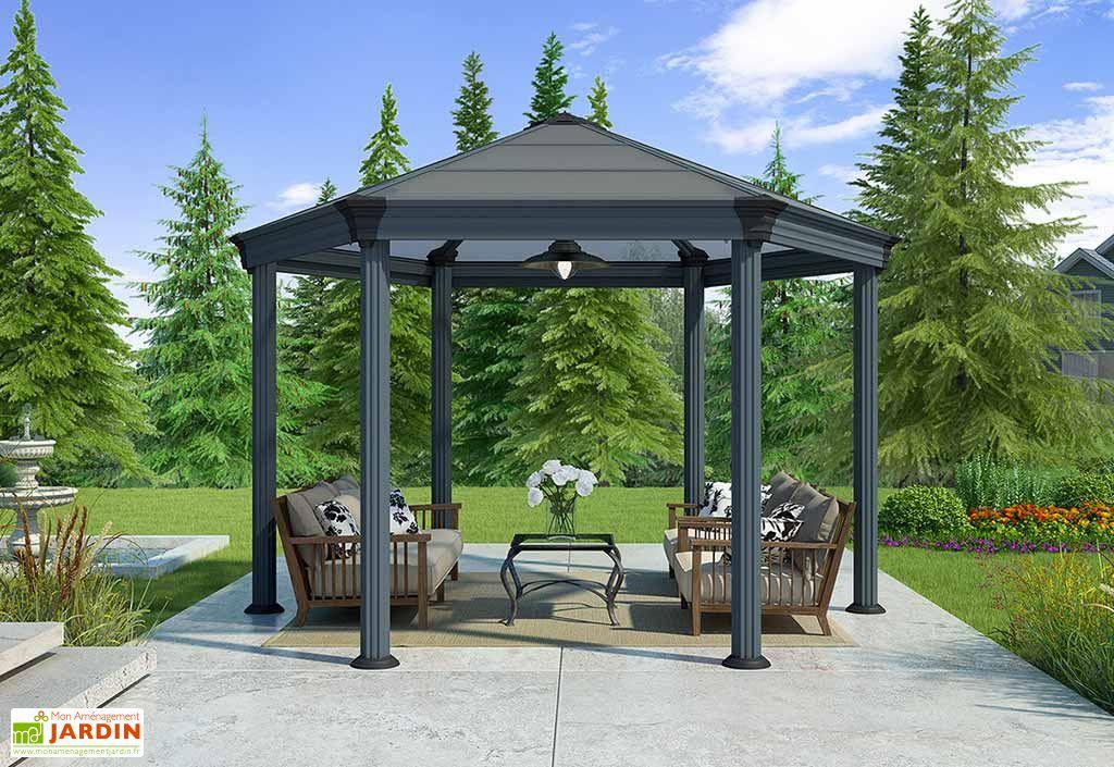 tonnelle roma hexagonale en aluminium 414x359cm palram. Black Bedroom Furniture Sets. Home Design Ideas