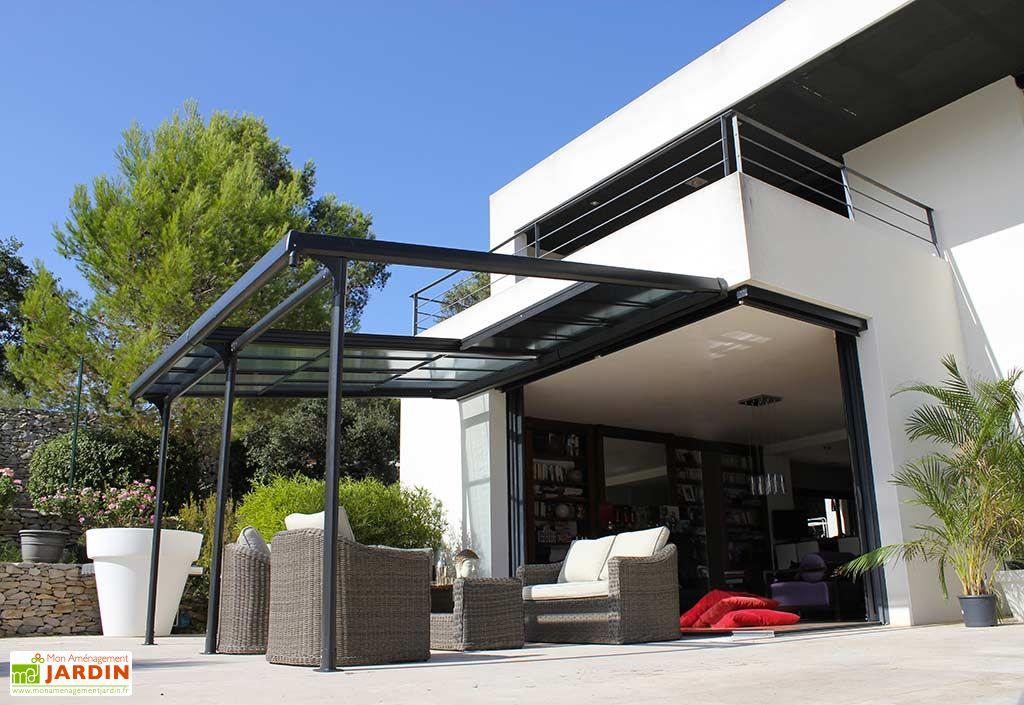 Tonnelle azura aluminium toiture polycarbonate - Tonnelle metallique jardin ...