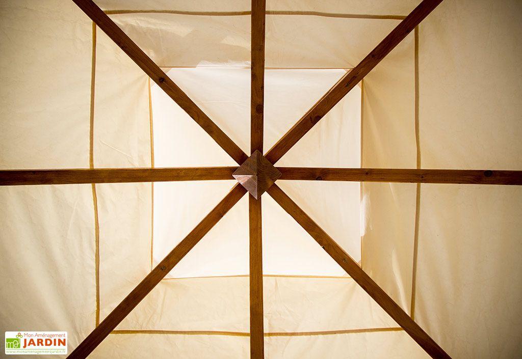 Tonnelle Bois PEFC Spacio 1 Paroi Vantelles 16m²