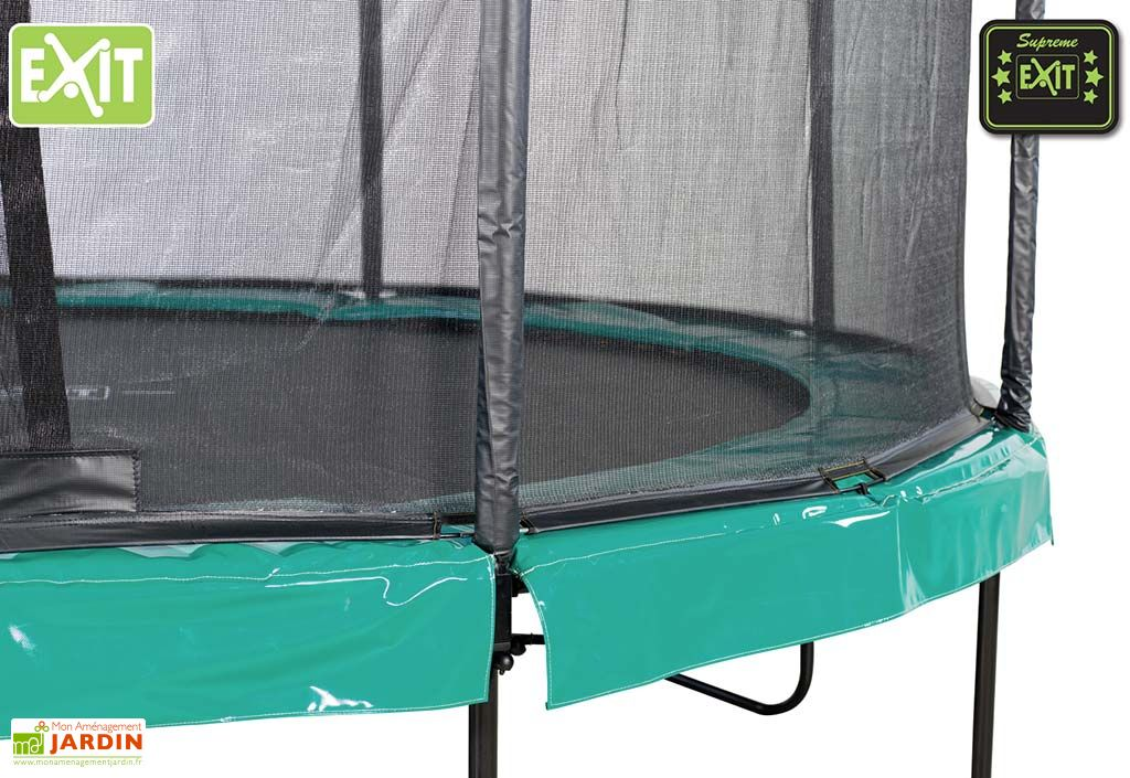 trampoline supreme all in 1 avec echelle et filet de s curit 305 cm exit toys. Black Bedroom Furniture Sets. Home Design Ideas