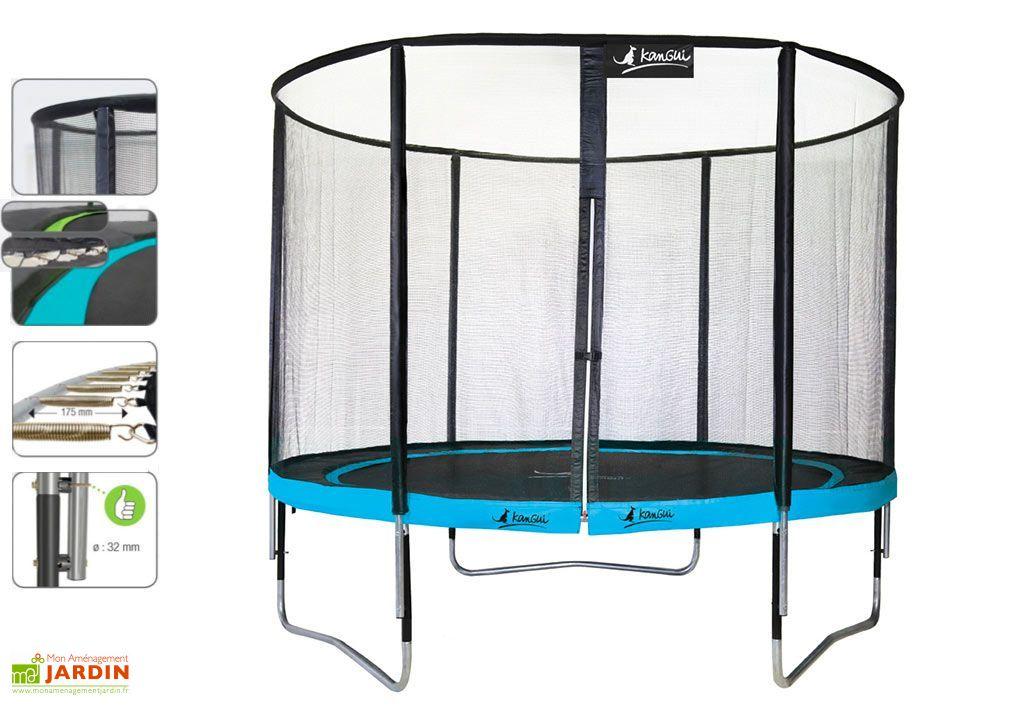 trampoline punchi 360 bleu atoll echelle kangui. Black Bedroom Furniture Sets. Home Design Ideas