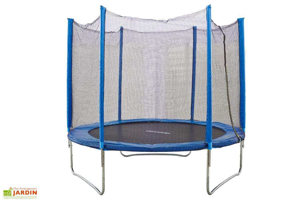 Trampoline bleu protection 244 cm amca - Filet de protection trampoline 244 ...
