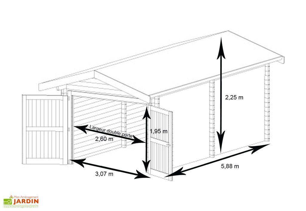Garage Métal Treco Colorbond (3,07x5,88x2,25)