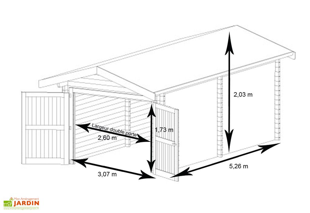 Garage Métal Treco Colorbond (3,07x 5,26x2,03)