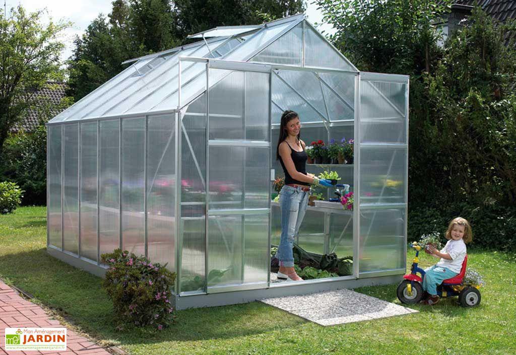 Serre de jardin polycarbonate Uranus 6700 Mahonia