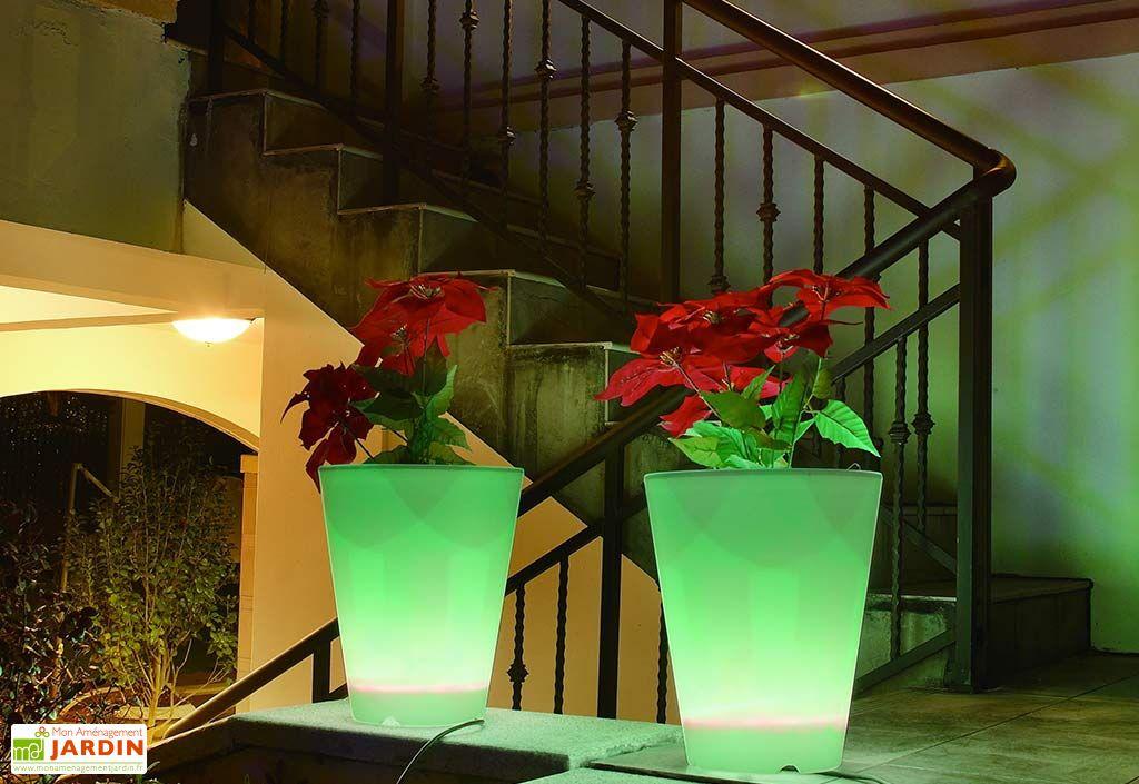 Vase Lumineux Conique Multicolore 40x50cm(l,h)