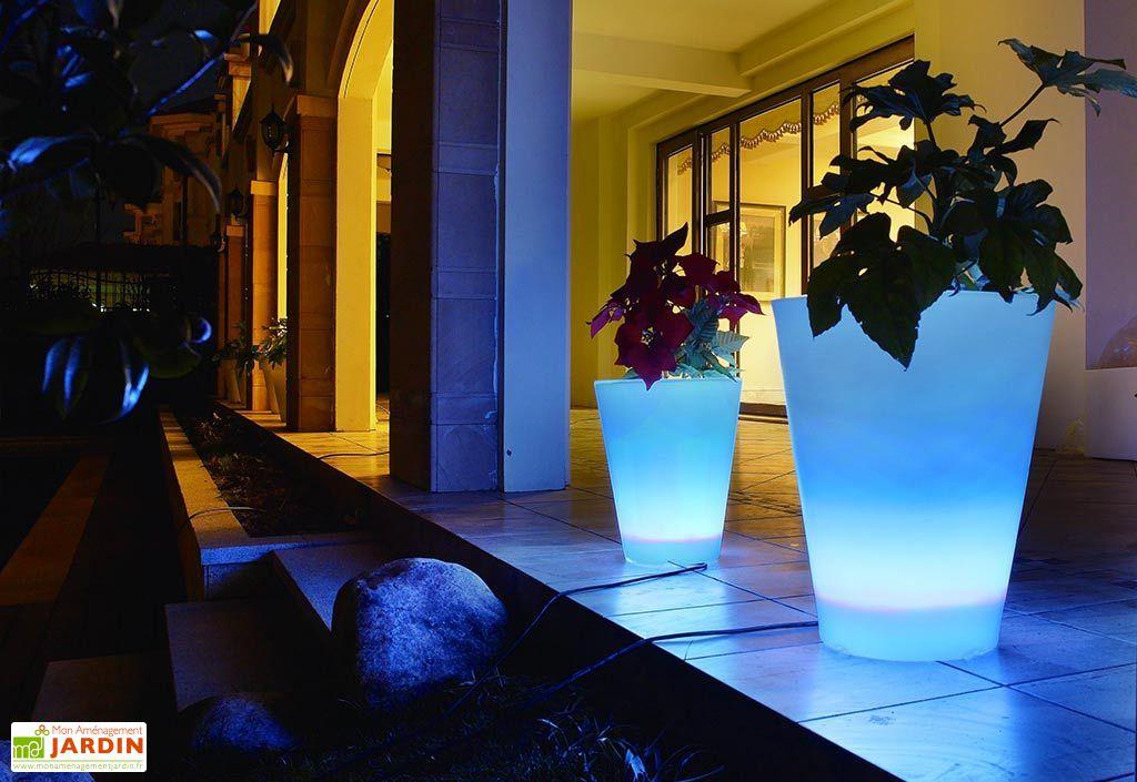 Vase Lumineux Conique Multicolore 30x38cm(l,h)