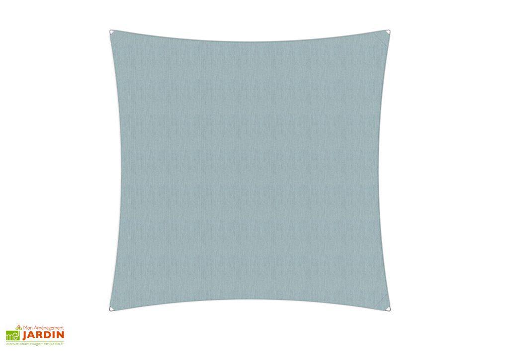 Voile d'ombrage Ingenua Umbrosa carrée 400 cm toile Sunbrella bleu