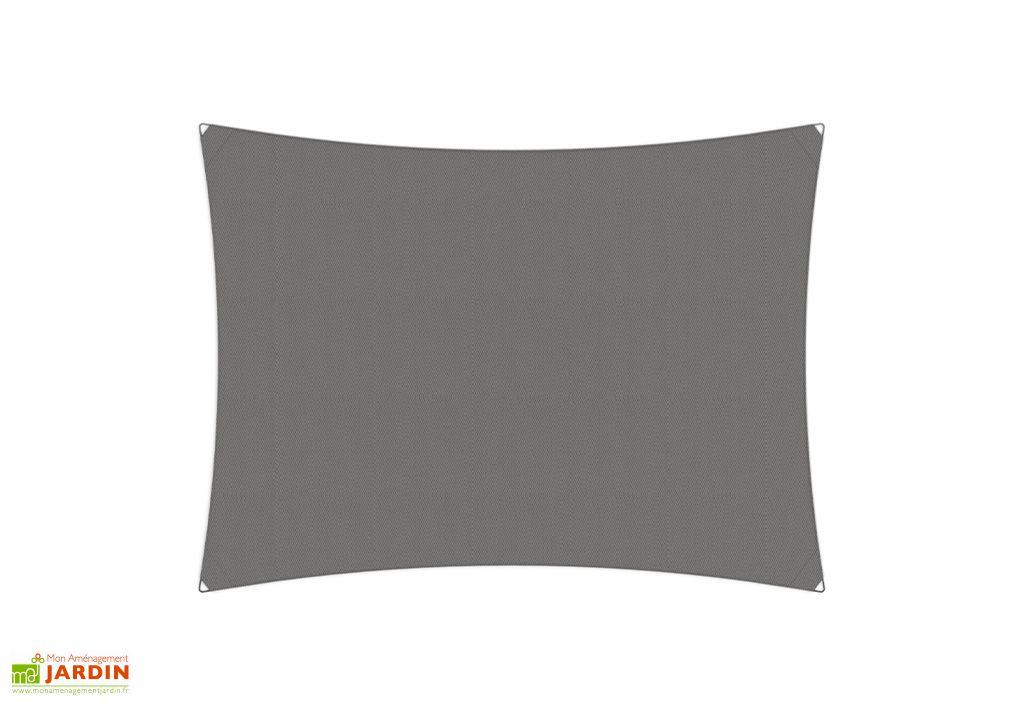 Voile d'ombrage Umbrosa rectangulaire 4 x 3 m toile Solidum grey