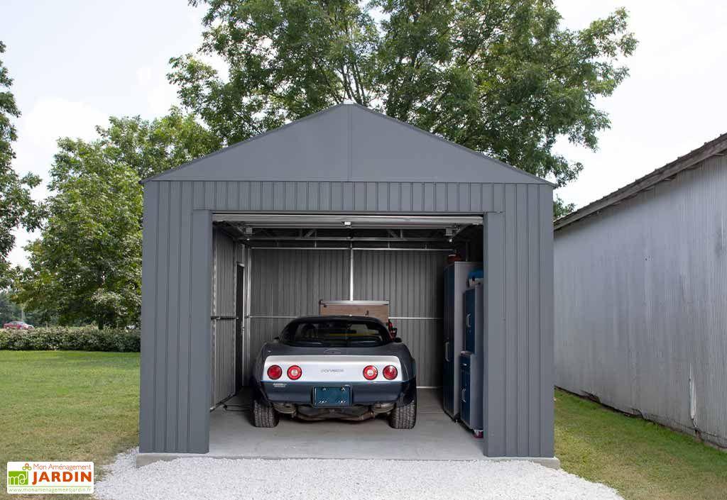 Garage en métal 1 voiture Sojag Everest anthracite 21,7 m²