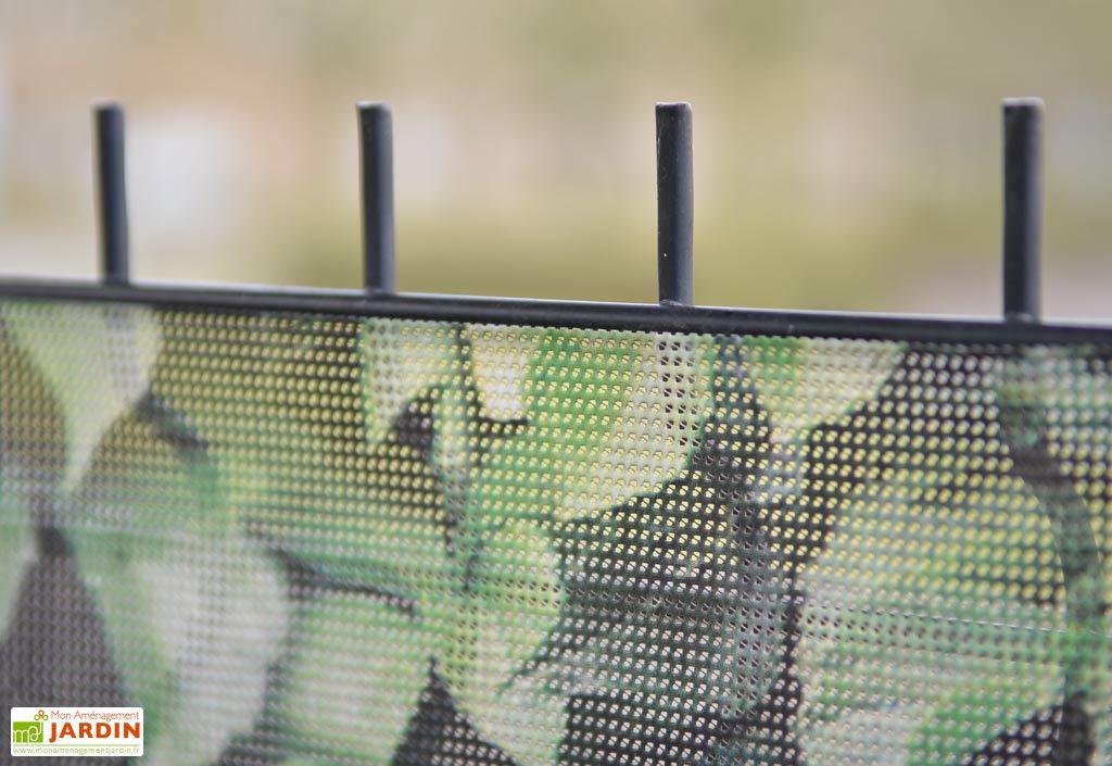 brise vue d coratif en polyester galet clair au m asystolie. Black Bedroom Furniture Sets. Home Design Ideas