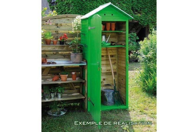 Armoire jardin bois simia 90x58x204 armoire de rangement for Armoire de jardin en bois