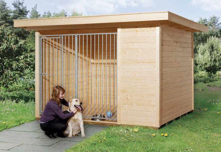 chenil pour chien avec grille weka. Black Bedroom Furniture Sets. Home Design Ideas