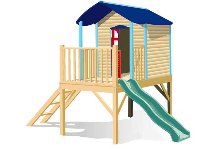 Maison Enfant Bois et Plastique Léane