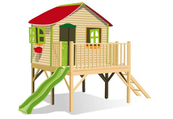 Maison Enfant Bois et Plastique Aurore