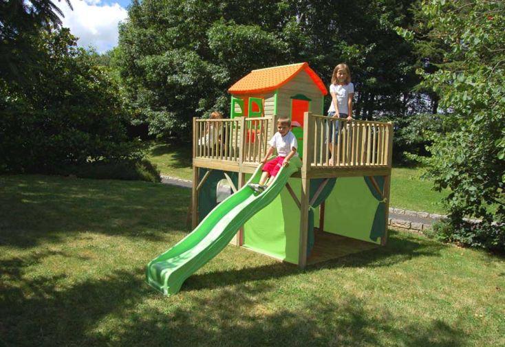 Maison Enfant Bois et Plastique Marion