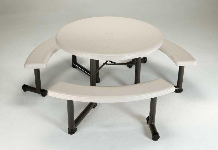 Table Résine Pique Nique Opale D112cm
