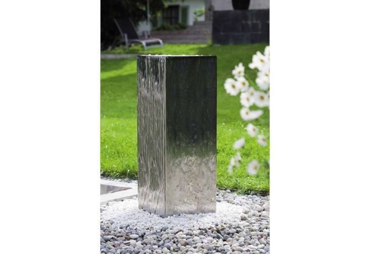 Fontaine Jardin Inox Quadrus