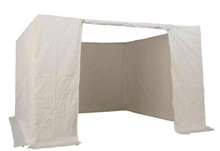 Kit 4 Murs PVC Blanc 300 gr/m² pour Tente Reception Pliante 3x3 Acier