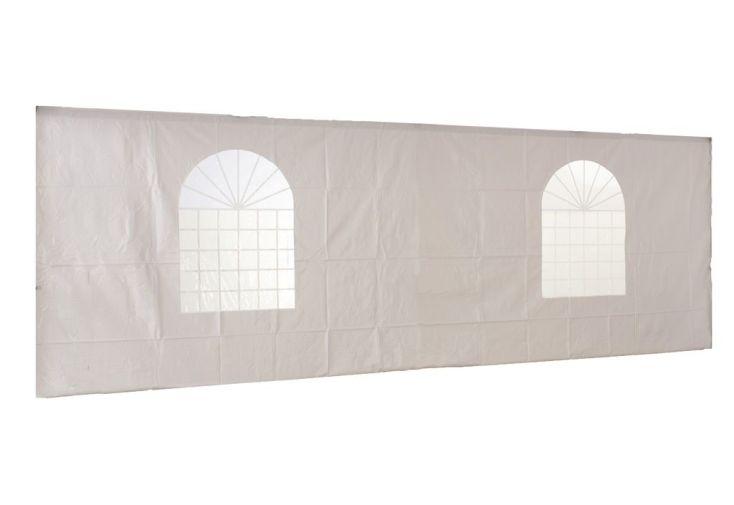 Mur Fenêtre PVC Blanc 520 gr/m² 5x5 pour Tonnelle Pliante