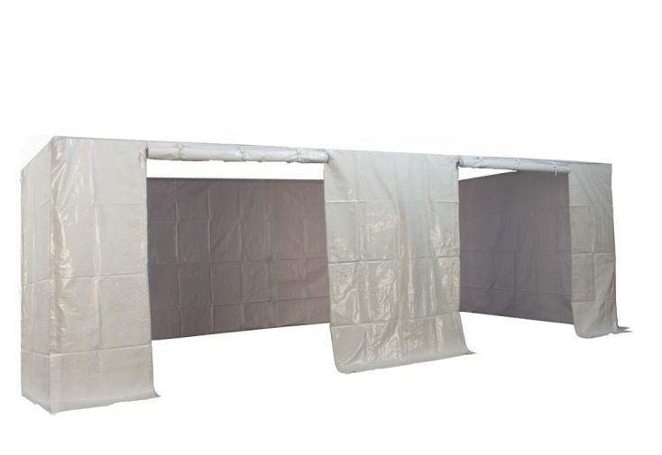 Kit 4 Murs PVC Blanc 520 gr/m² pour Tente Reception Pliante 3x6 Alu