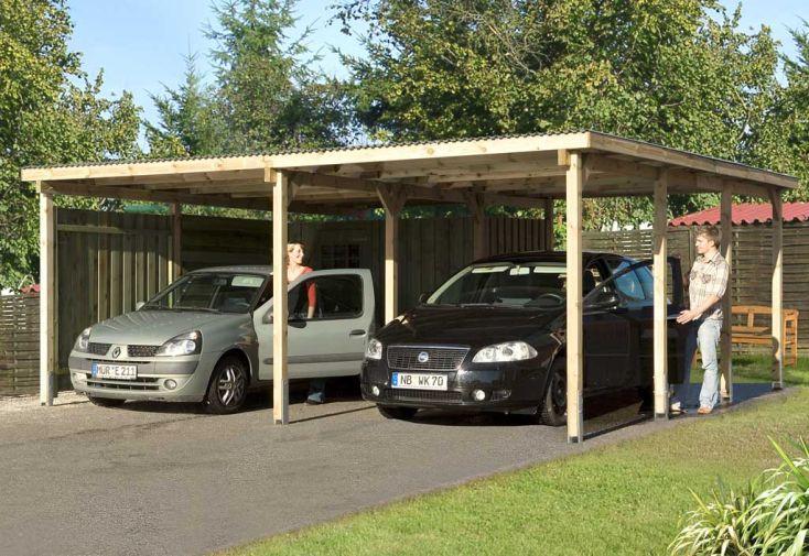 Carport Kompakt Duo XL (6x6)