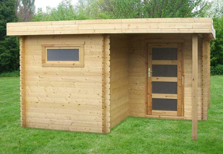 Abri de jardin bois Plosiel 28 mm Toit Plat