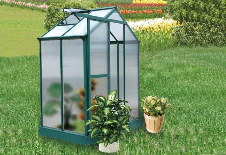 Serre de Jardin Polycarbonate Capucine (122x183x227)
