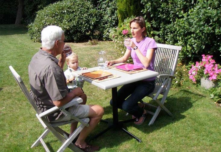 Table Resine Bistrot Emeraude 74x74 Reglable En Hauteur Table