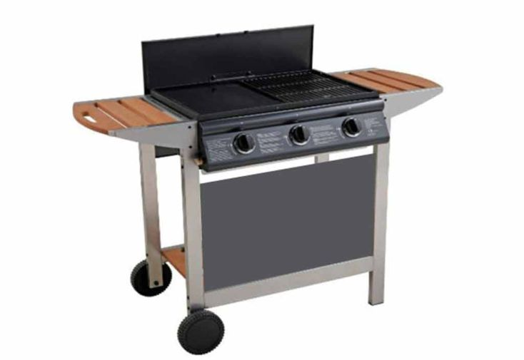 Plancha Barbecue Gaz Australien 3 Brûleurs 10,5 kw