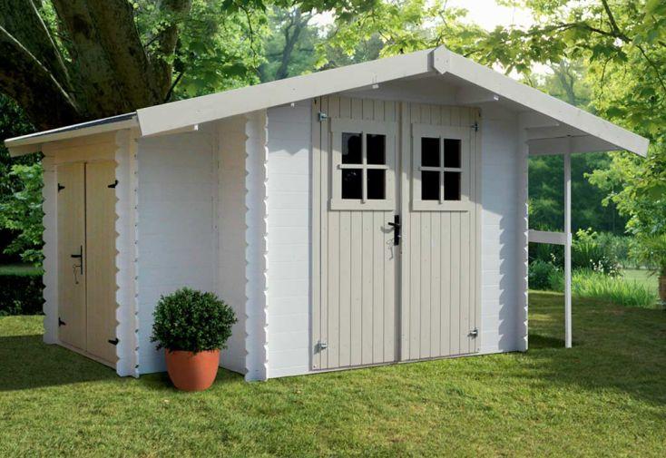 Abri de jardin bois 19 mm 2 38x2 38m armoire solid for Abris de jardin solid belgique