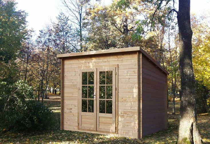 Abri de jardin bois cassis 28mm 300x250cm mecanowood - Abri jardin bois 28mm ...