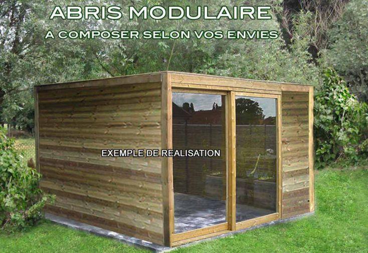 Abri de jardin bois exterior 300x300x230 gardival for Chalet bois abris de jardin