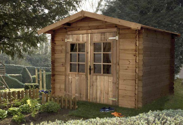 Abri de jardin bois trait autoclave monda 248x248cm madeira - Abri de jardin autoclave ...
