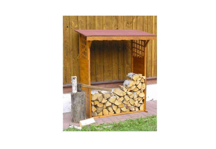 abri de bûches en bois de pin lasuré pour stocker rondins de bois 140 x 60 x 168 cm