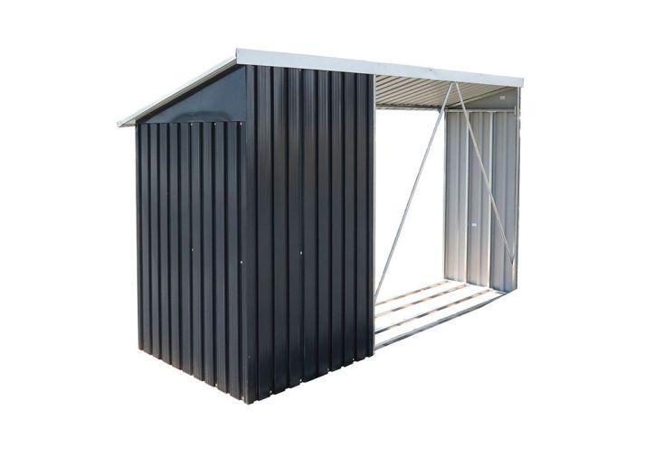Abri Bûches Métal Duramax + Remise 262x108x160cm (l,l,h)