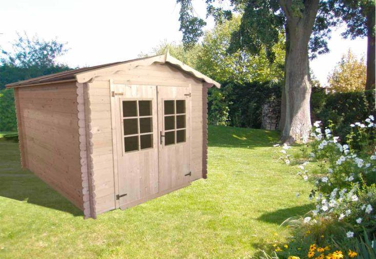 Abri de Jardin Bois Atelier (268x268x247) 28 mm + Plancher
