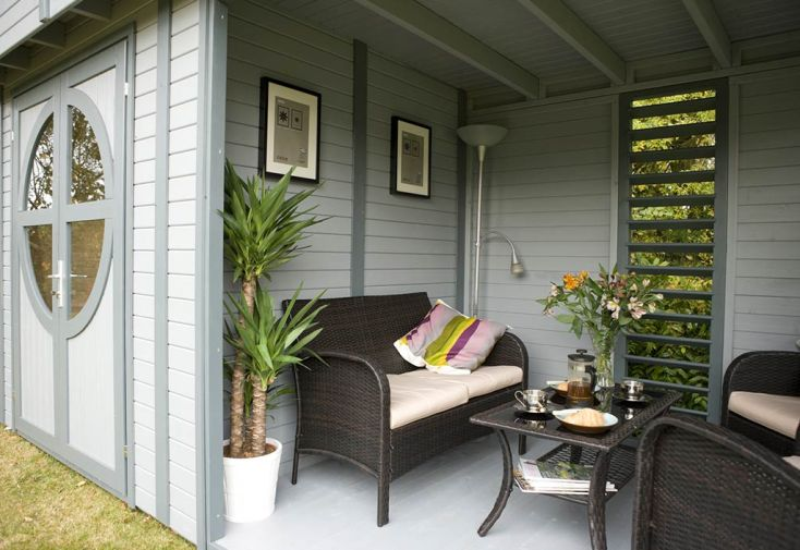 Abri de jardin bois design 19mm relax gris 456x210x228cm for Abri de jardin design