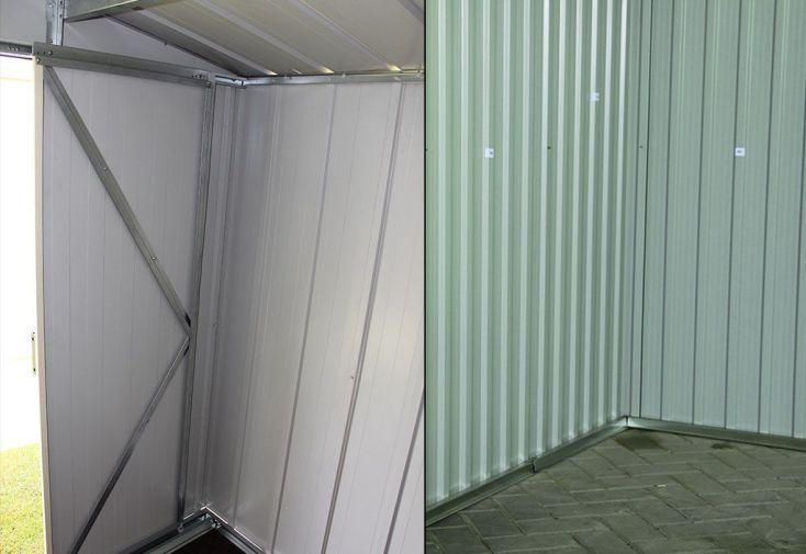 abri de jardin en métal 7,5 m2 résistant à la corrosion