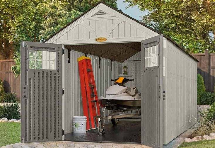 Abri de Jardin PVC Suncast Woodgrain 8160 (4,96x2,55)