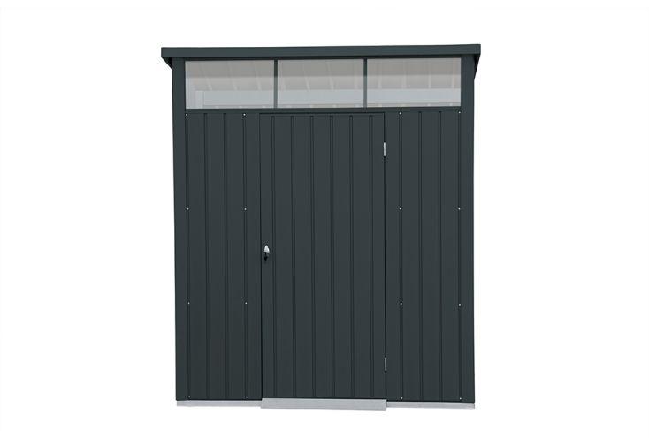 Abri de jardin en acier galvanisé gris anthracite Duramax 4 m²