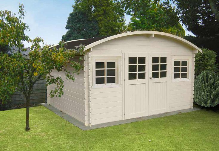 Abri de jardin en bois dainville ii 28mm 388x298cm solid - Abri jardin bois 28mm ...