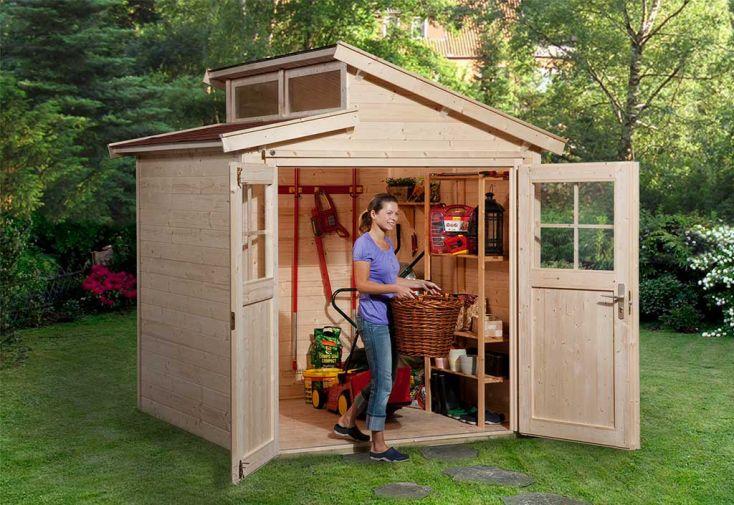 Abri de jardin en bois d'épicéa Weka 226 T1 4,28 m² brut
