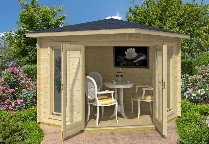 Abri de Jardin en Bois Melbourne 40 mm – 240 x 240 cm